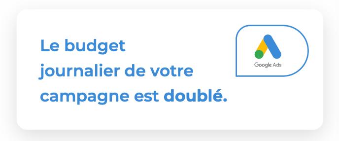Budget doublé