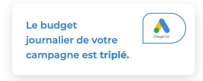 Budget triplé
